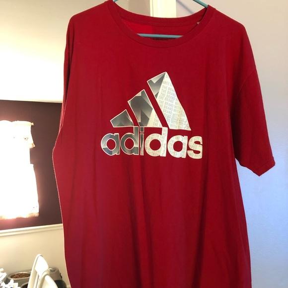 Red adidas men shirt